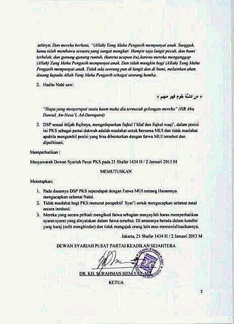 keputusan dewan syariah pks